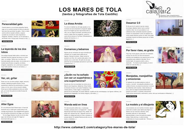 Textos y fotografías de Tola Castillo publicadas en www.Calamar2